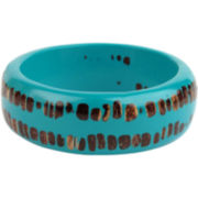 Designs by Adina Blue Resin Small Bangle