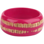 Designs by Adina Pink Resin & Shell Large Bangle