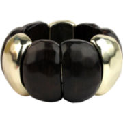 Designs by Adina Black Resin & Gold-Tone Stretch Bracelet