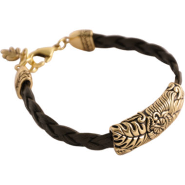 jcpenney.com | Art Smith by BARSE Floral Brown Leather Bracelet