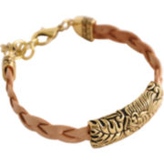 Art Smith by BARSE Floral Neutral Leather Bracelet