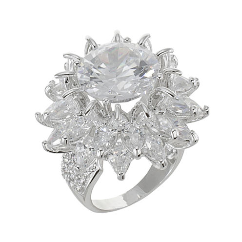 CZ by Kenneth Jay Lane Floral Statement Ring