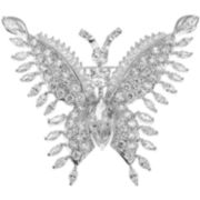 CZ by Kenneth Jay Lane Cubic Zirconia Butterfly Brooch