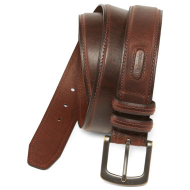 jcpenney.com | Columbia® Brown Leather Belt w/Contrast Stitching