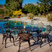 Haitian 7-pc. Cast Aluminum Outdoor Dining Set
