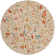 Martha Stewart Rugs™ Autumn Woods Round Rug – Persimmon Red
