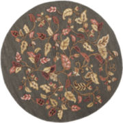Martha Stewart Rugs™ Autumn Woods Round Rug – Francesca Black