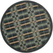 Martha Stewart Rugs™ Colorweave Plaid Round Rug – Wrought Iron