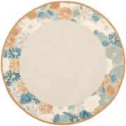 Martha Stewart Rugs™ Poppy Border Round Rug