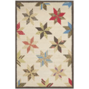 Martha Stewart Rugs™ Lemoyne Star Rectangular Rugs – Bone White