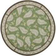 Martha Stewart Rugs™ Fern Frolic Round Rug – China Green Marble