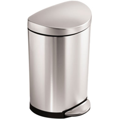 jcpenney.com | simplehuman® 10L Semi-Round Step Trash Can