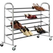 Sophisticate 20-pr. Rolling Shoe Rack
