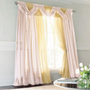 jcp home™ Lisette Rod-Pocket Sheer Panel