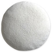 Design by Conran Crochet Round Decorative Pillow