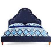 Happy Chic by Jonathan Adler Crescent Heights Linen Upholstered Bed