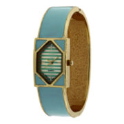 Womens Rectangle Case Bangle Watch