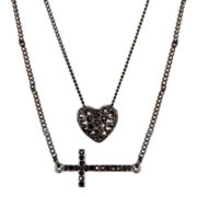 Delicates by PALOMA & ELLIE Hematite 2-Row Charm Necklace