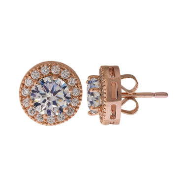 jcpenney.com | Sparkle Allure™ Cubic Zirconia Halo Stud Earrings