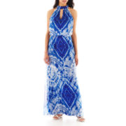 Bisou Bisou® Sleeveless Halter Maxi Dress