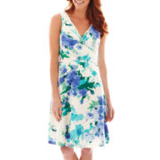 Liz Claiborne® Sleeveless Floral Print Dress
