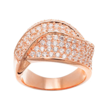 jcpenney.com | 18K Rose Gold Over Brass Cubic Zirconia Ring