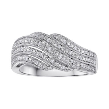 jcpenney.com | 1/10 CT. T.W. Diamond Sterling Silver Swirl Ring