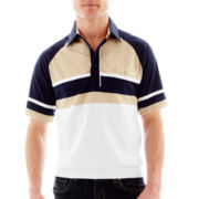Palmland® Knit Banded-Bottom Polo