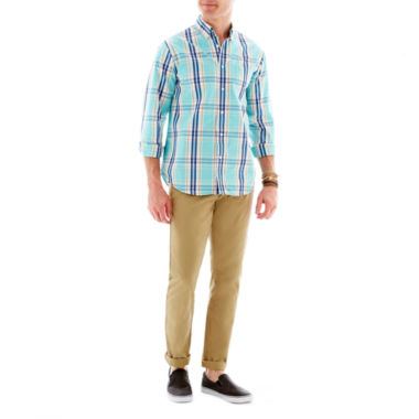 jcpenney.com | Dockers® Button-Front Shirt with Modern Khaki Slim Tapered Pants
