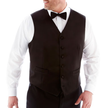 jcpenney.com | Stafford® Tuxedo Vest–Big & Tall