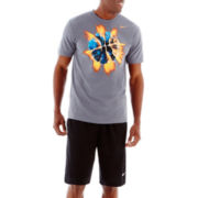 Nike® Exploding Basketball Tee and Layup Shorts