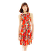 Joe Fresh™ Sleeveless Boatneck Print Dress