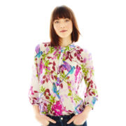 Joe Fresh™ 3/4-Sleeve Print Blouse
