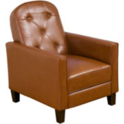 Tungsten Bonded Leather Tufted Recliner