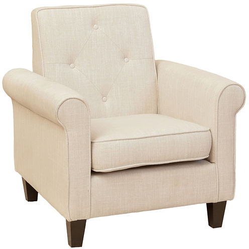 Huntley Fabric Tufted Club Chair