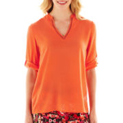 nicole by Nicole Miller® Roll-Cuff Tunic Top