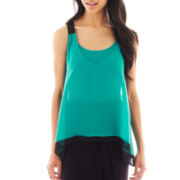 Bisou Bisou® Colorblock Chiffon Tank Top