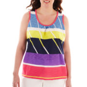 Liz Claiborne Print Tank Top - Plus