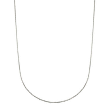"jcpenney.com | Infinite Gold™ 14K White Gold 18"" Box Chain Necklace"