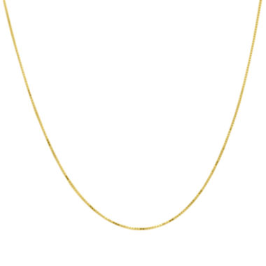 "jcpenney.com | Infinite Gold™ 14K Yellow Gold 20"" Box Chain Necklace"