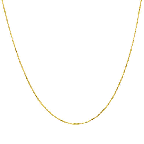 "Infinite Gold™ 14K Yellow Gold 20"" Box Chain Necklace"