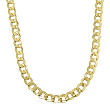 "jcpenney.com | Infinite Gold™ Mens 14K Yellow Gold 22"" Hollow Curb Chain Necklace"