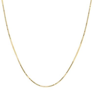 "jcpenney.com | Infinite Gold™ 14K Yellow Gold 18"" Box Chain Necklace"