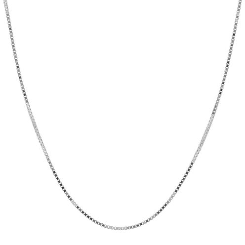 "Infinite Gold™ 14K White Gold 20"" Box Chain Necklace"
