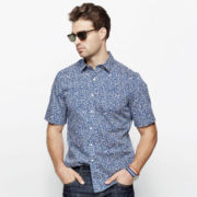Claiborne® Short-Sleeve Printed Woven Shirt