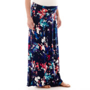 a.n.a® Maternity Wide-Waistband Maxi Skirt - Plus