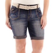 Wallflower Denim Shorts - Plus