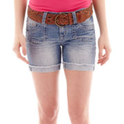 Wallflower Belted Denim Shorts