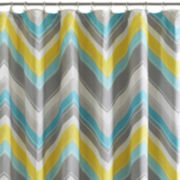 Intelligent Design Ariel Chevron Shower Curtain
