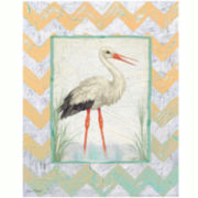 Stork in Paradise Canvas Wall Art